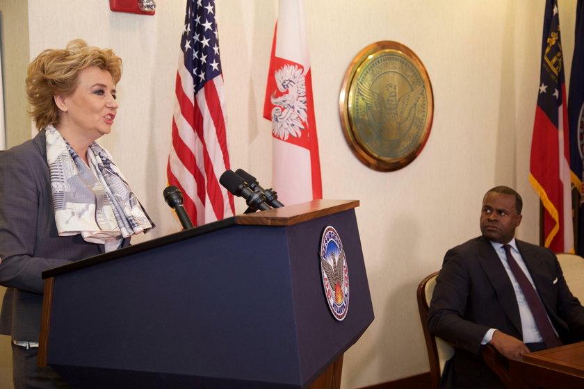 Hanna Zdanowska, prezydent Łodzi i burmistrz Kasim Reed podpisali umowę o współpracy Łodzi i Atlanty w USA