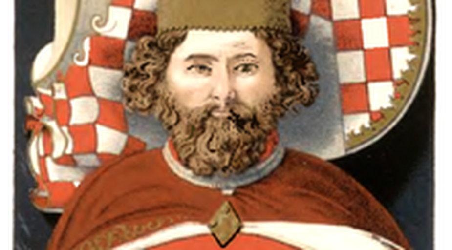 Ilustracja przedstawia nagrobek Bolka II Małego w Krzeszowie  - domena publiczna