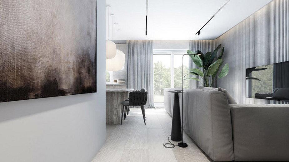 Minimalistyczne wnętrza mieszkania