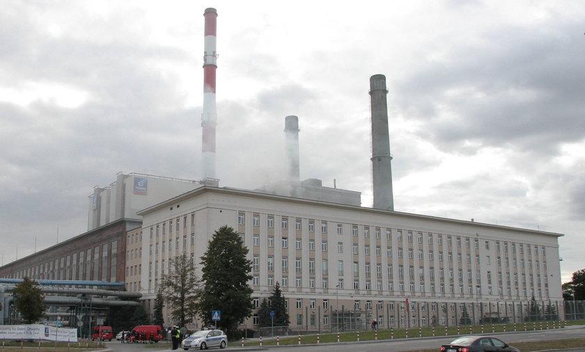 Pożar w Elektrociepłowni Żerań w Warszawie