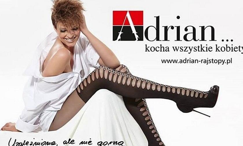 Felicjańska reklamuje rajstopy