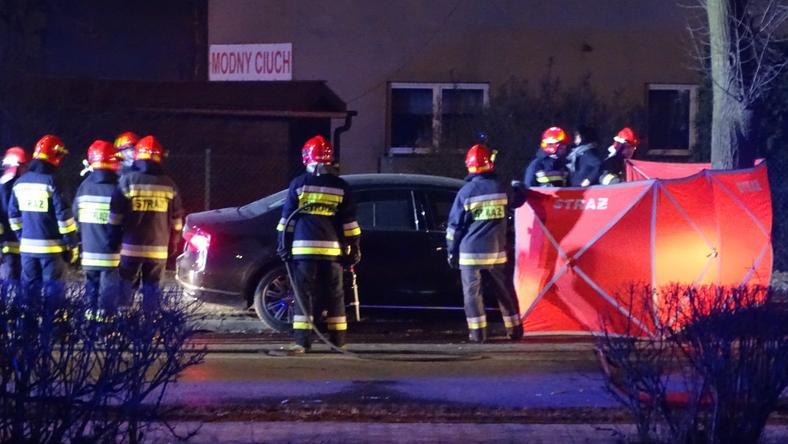 Miejsce wypadku premier Beaty Szydło