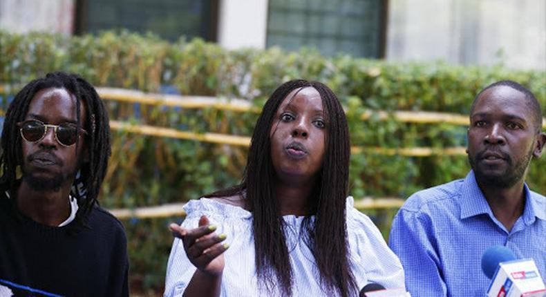 The Late Kijana Wamalwa's son William Wamalwa Senior (right) dies in Milimani, Nairobi