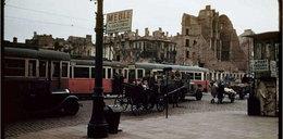 Zburzona Warszawa w kolorze. Niesamowite zdjęcia i film