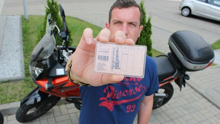 Motocyklem z kategorią B