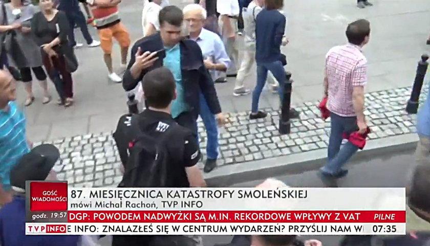 Dziennikarz TVP zaatakowany na miesięcznicy