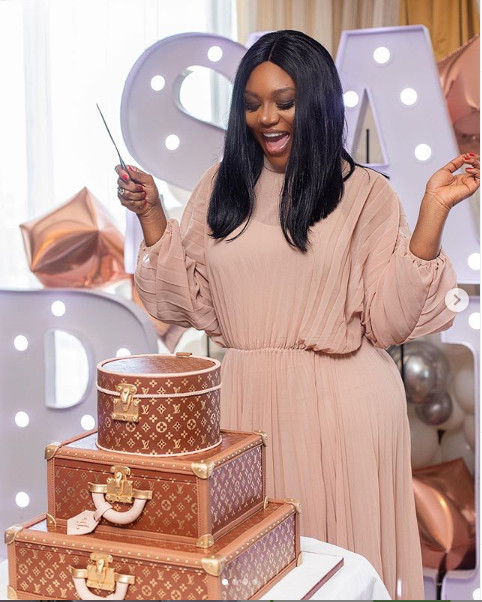 Sandra Ankobia excited about her cake