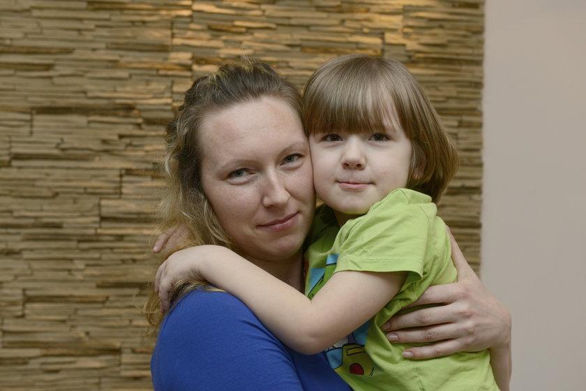 Gabryś Kalka (4 l.) z mamą Dominiką Zioła (31 l.)