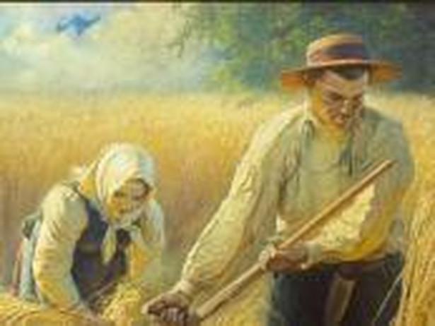 """""""Żniwa"""" - obraz pędzla Adama Ciemniewskiego (1866-1915)"""