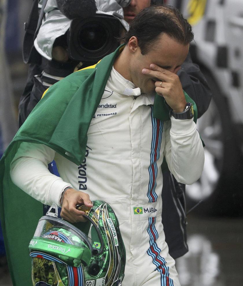 Felipe Massa miał wypadek na Interlagos. Hamilton wygrał GP Brazylii