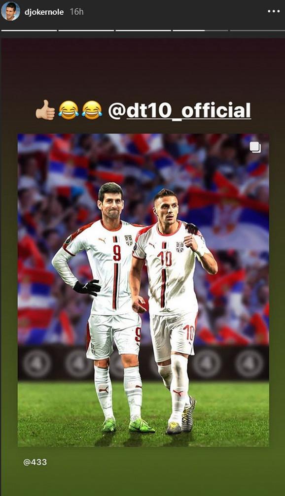 Novak Đoković i Dušan Tadić u dresu reprezentacije Srbije
