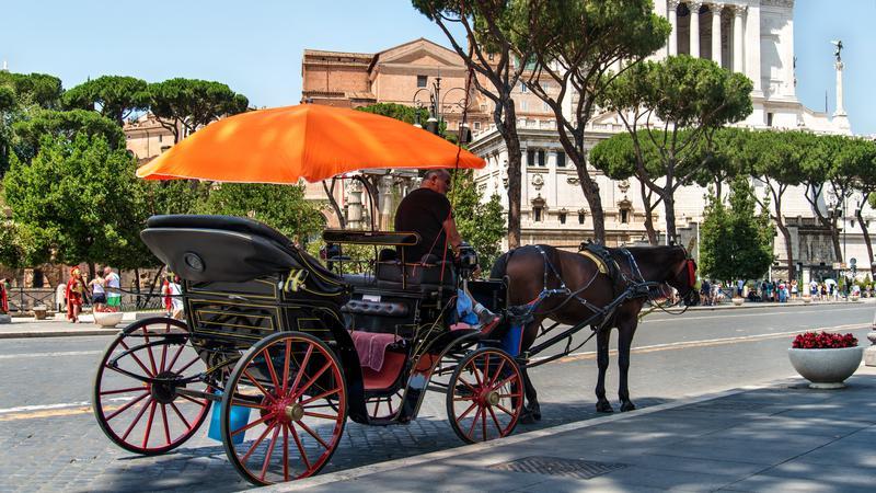 Dorożka, Rzym