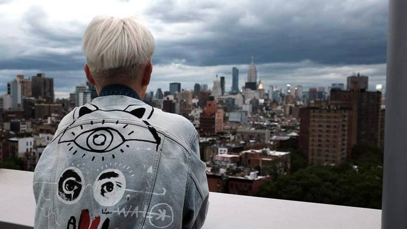 Martyna Mierzejewska w Lower East Side. Mr. Purple Rooftop bar