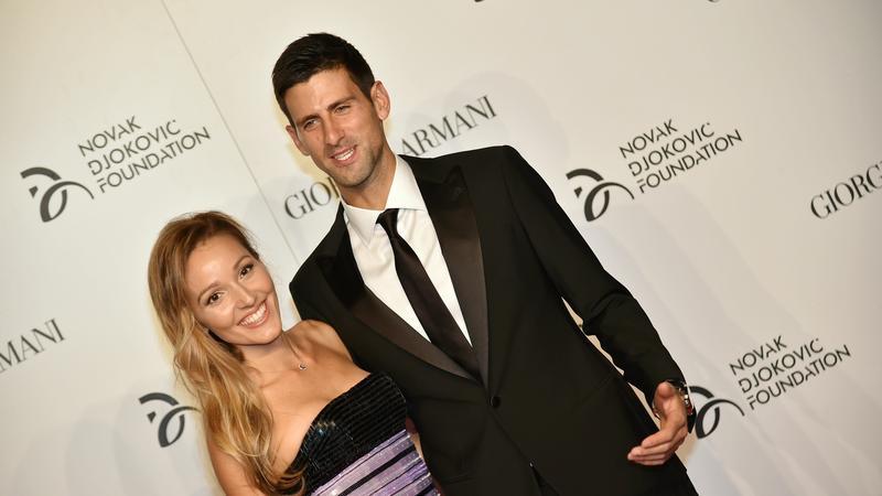 Novak Djoković z żoną