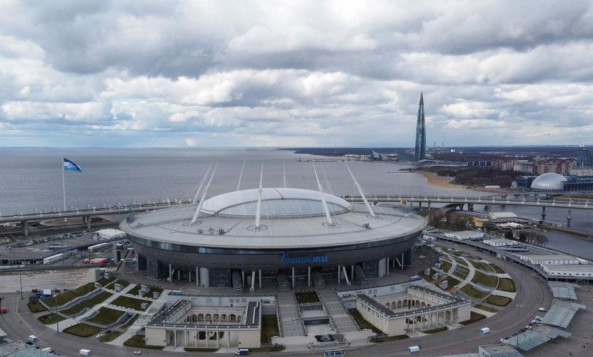 Stadion w Petersburgu, gdzie swoje mecze rozgrywają Polacy