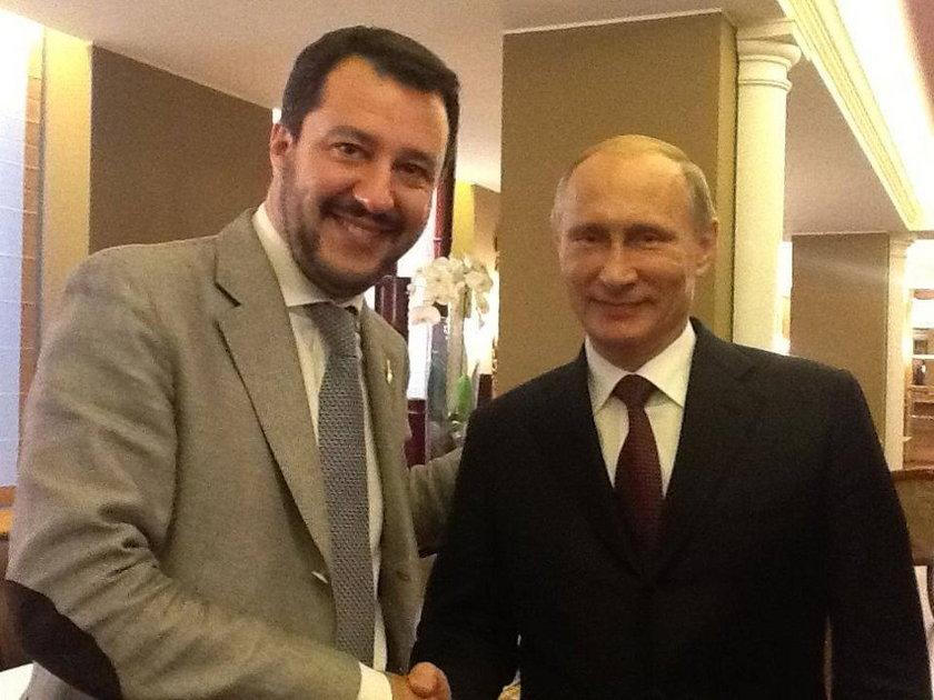 Matteo Salvini i Władimir Putin