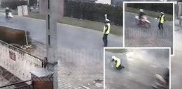 Wypadek w Tarnowie Opolskim. Potrącił policjanta i uciekł! Zobacz FILM