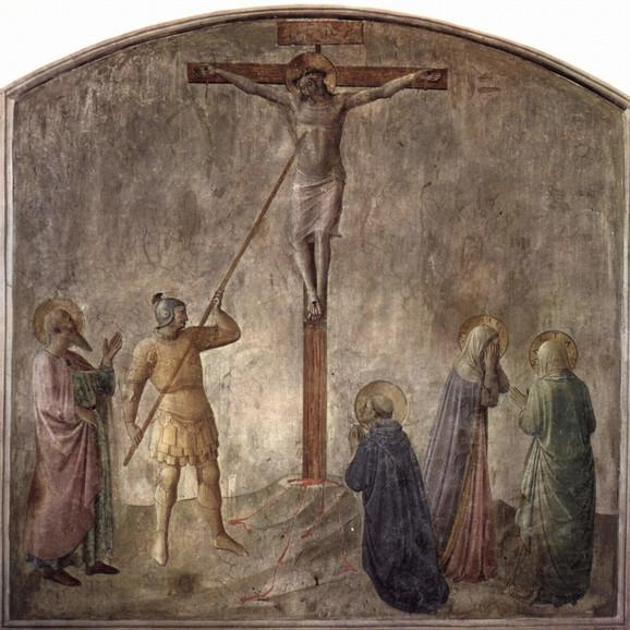 Legionar Longin Kopljonoša probada Isusa Hrista tokom raspeća
