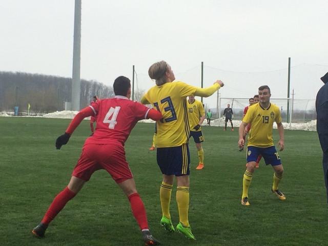 Detalj sa meča između omladinaca Srbije i Švedske