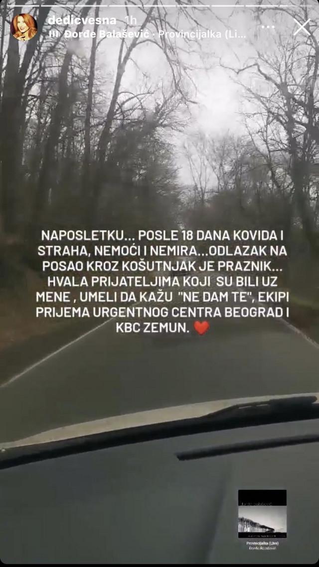 Vesna Dedić status