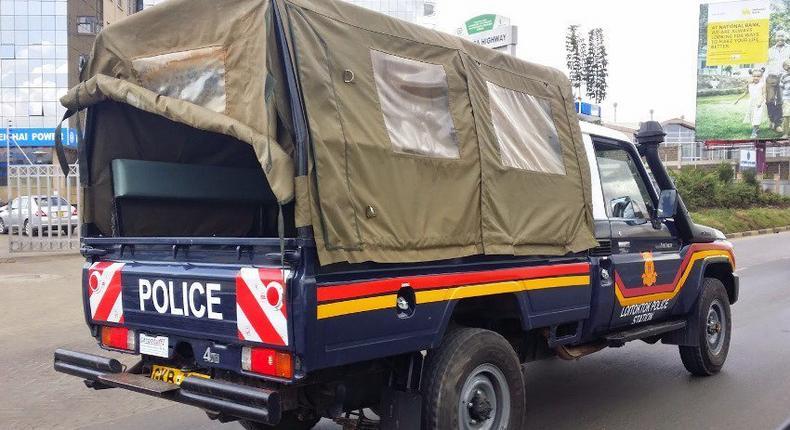 A Kenya Police vehicle