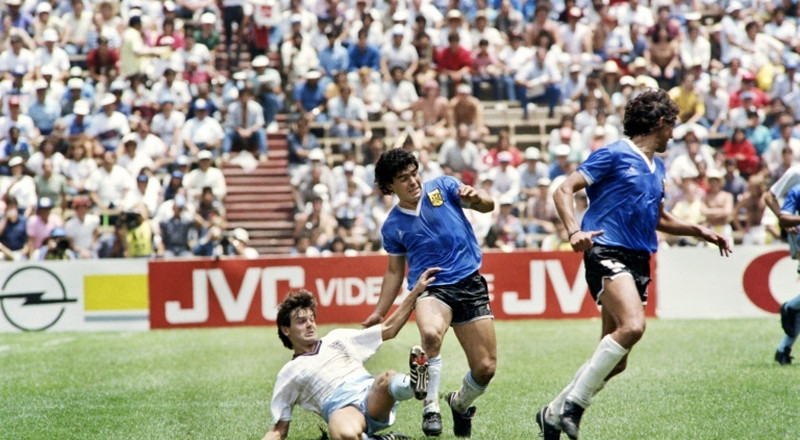Maradona's 'Hand of God' shirt not for sale, says England's Hodge