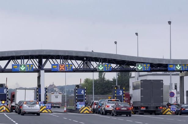 Punkt poboru opłat za przejazd autostradą A4.