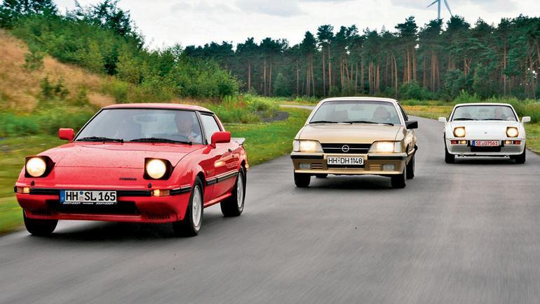 Porsche 924 kontra Opel Monza i Mazda RX-7 - Dość dziwne trio