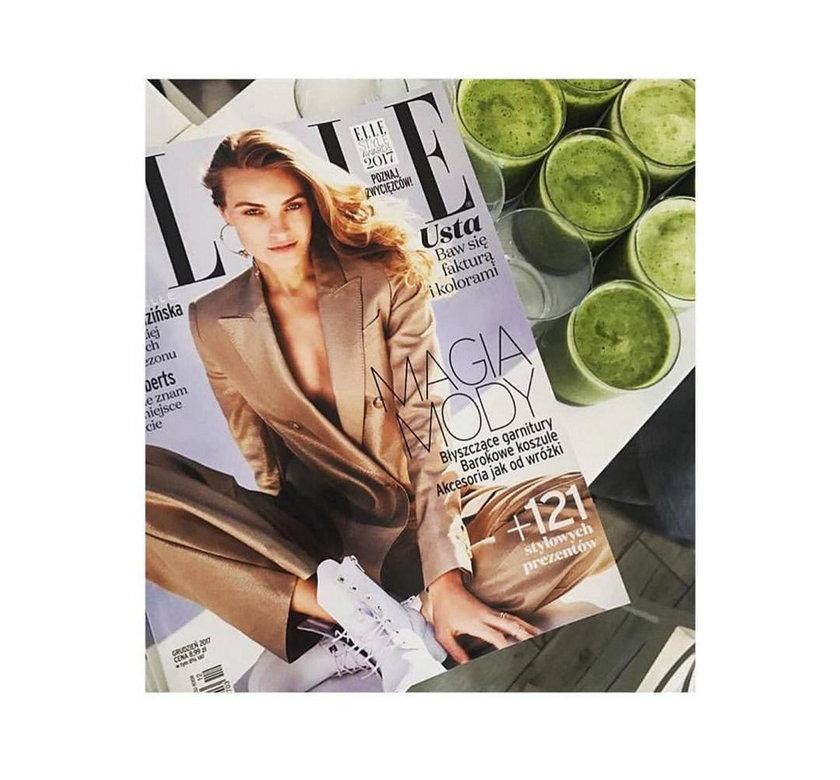 "Okładka magazynu ""Elle"" z Anną Jagodzińską"