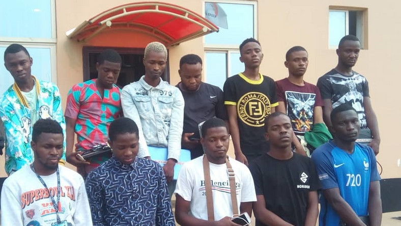 The EFCC has picked up so many suspected internet fraudsters in recent times. [Facebook/EFCC]