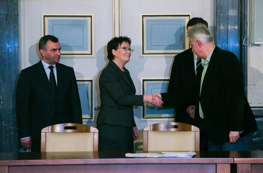 Podpisanie porozumienia między rządem a górnikami