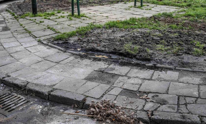 Zniszczone osiedla w Nowej Hucie w Krakowie