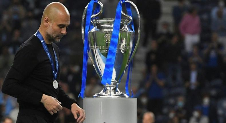 Pep Guardiola's Manchester City were beaten finalists in the 2021 Champions League final