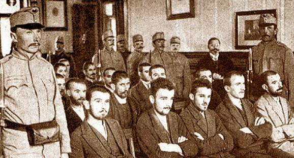 Pripadnici Mlade Bosne na suđenju u Sarajevu