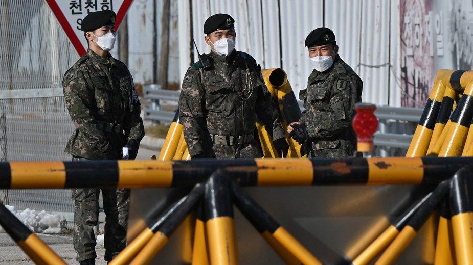 Południowokoreańscy żołnierze