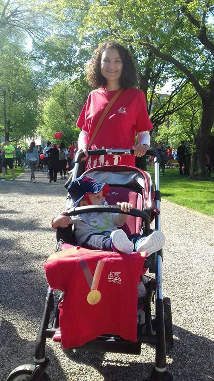 Nataša i Mihailo na Beogradskom maratonu