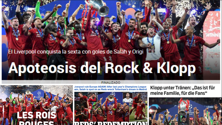 Liga šampiona finale, novine jutro posle