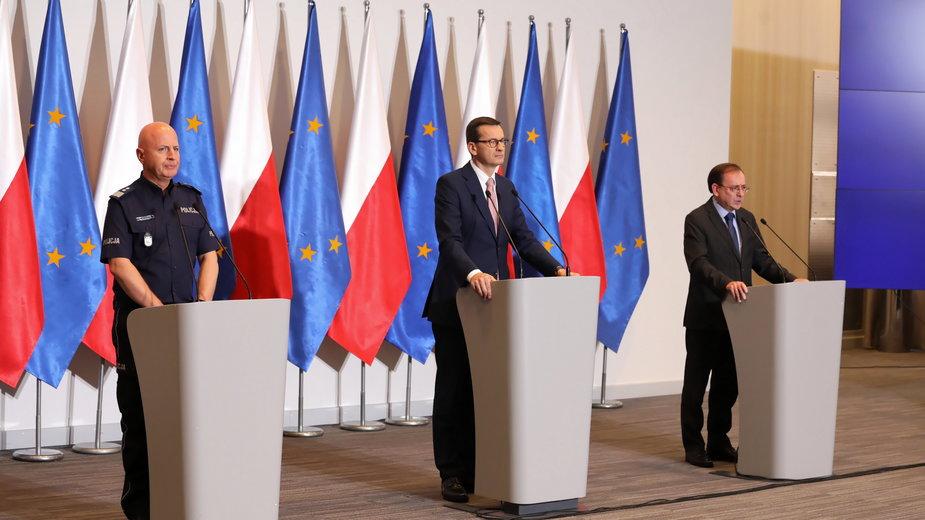 Jarosław Szymczyk, Mateusz Morawiecki i Mariusz Kamiński