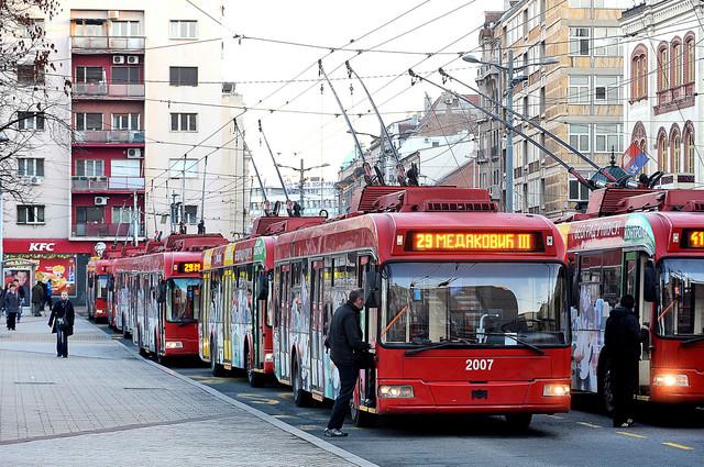Većina trolejbusa voziće do Slavije