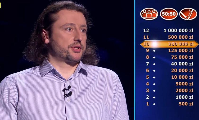 """""""Milionerzy"""" Michał był o krok do miliona!"""