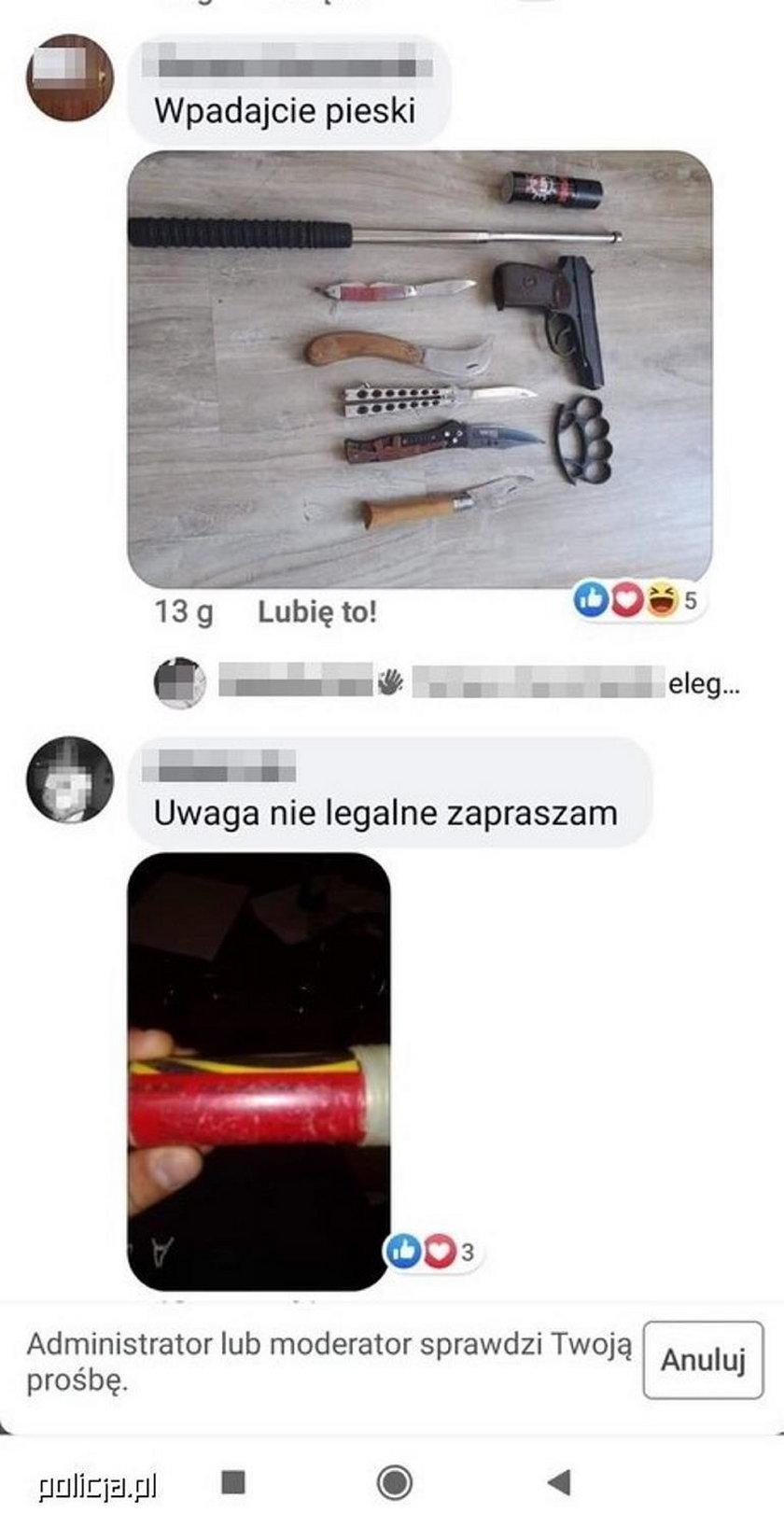 Hejter z Łodzi groził policjantom