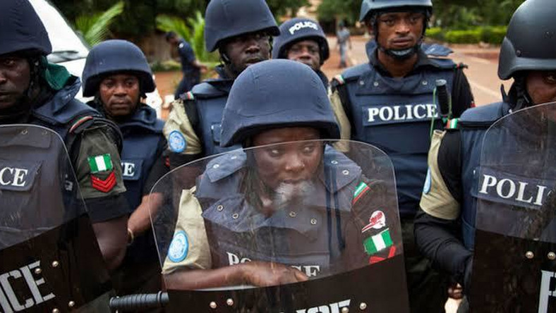 Men of the Nigeria Police Force (The Sun)