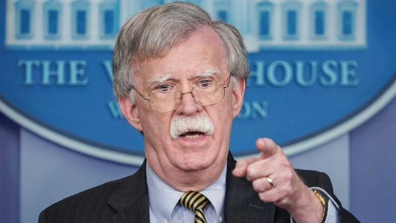 "US National Security Advisor John Bolton, pictured October 2018, said two rounds of unilateral US sanctions introduced by President Donald Trump in August have had a ""quite significant"" effect on the Iranian economy and the country's actions abroad"