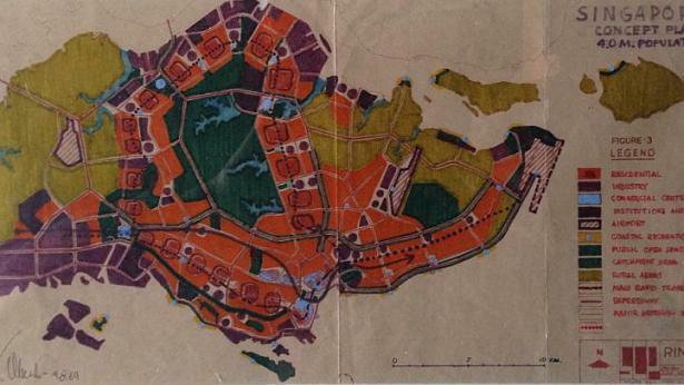 Plan zagospodarowania Singapuru autorstwa Krystyna Olszewskiego