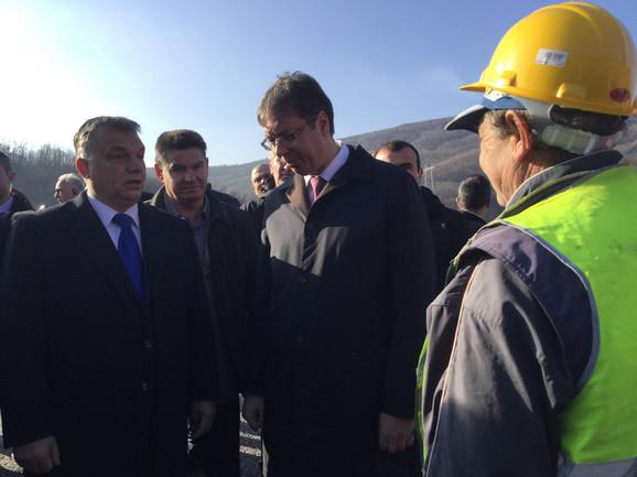 Predsednik Srbije Aleksandar Vučić i mađarski premijer Viktor Orban