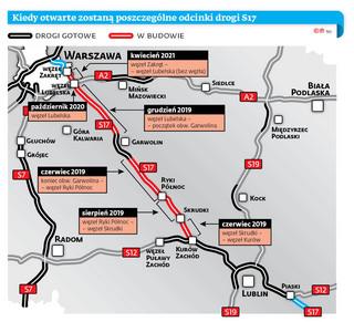 Ekspresowo z Warszawy do Lublina. Budowa drogi S17 przyspiesza