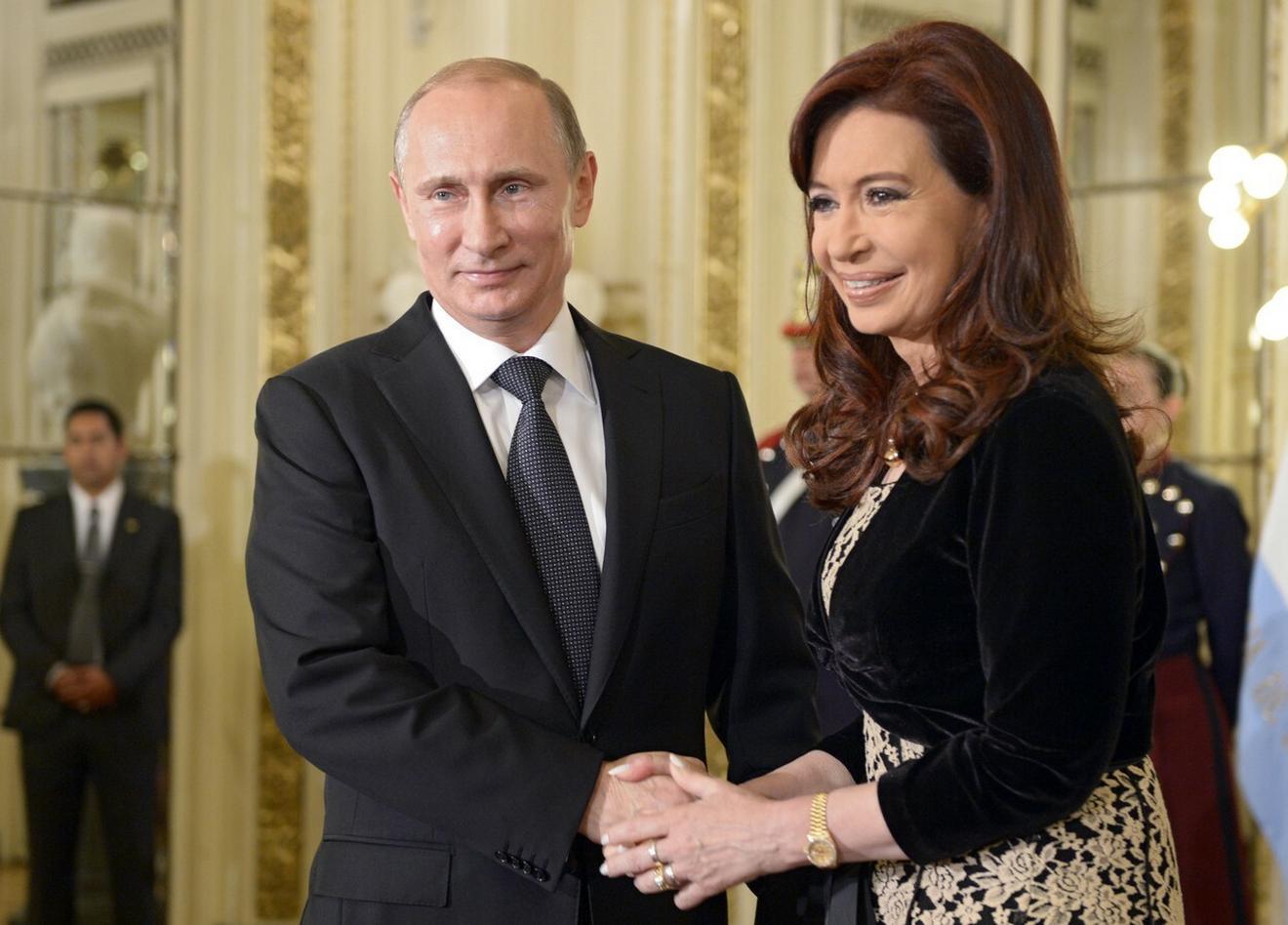 Sa ruskim predsednikom Vladimirom Putinom, 2014. u Argentini