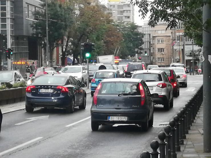 Gužva špic Beograd kiša