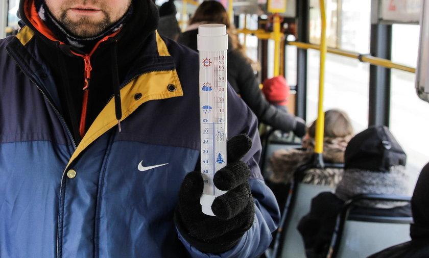 Temperatury we wrocławskich tramwajach