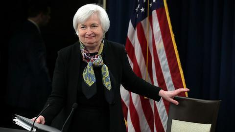 Fed w grudniu 2016 roku podniósł stopy procentowe. Na zdjęciu szefowa rezerwy federalnej - Janet Yellen